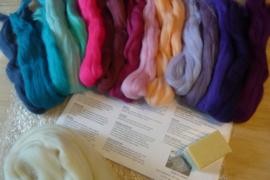 Startpakket wit, roze, paars en turkoise tinten per pakket