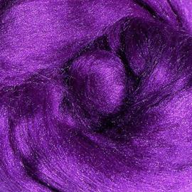 Tussahzijde per 10 gram paars