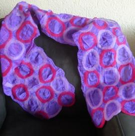 Sjaal paars met ringen