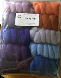 Luckydip kleurenset 23 micron 10 kleuren a 25 gram per pakket