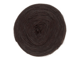 Wol voorgaren (pencil roving) per 10 gram  1033 Black sheep