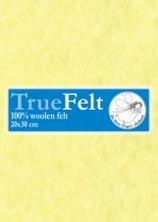 Truefelt 180 cm breed per 10 cm 616 zacht geel