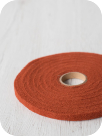 Naaldvlies band 1 cm breed - 5 m lang roest
