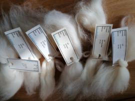 Labeltjes voor bestelde wol / vezels 1 t/m 20 stuks