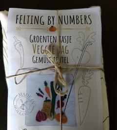 Tas groente: naaldvilten by numbers per pakket
