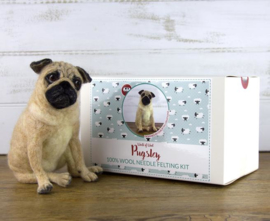 Naaldviltpakket Hond Pugsley (engelstalig) per pakket