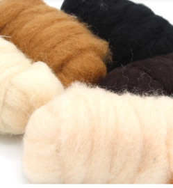 Corriedale kleurenset effen diertinten 5 * 25 gram