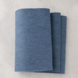 Patchfelt 20 * 30 cm 036 blauw