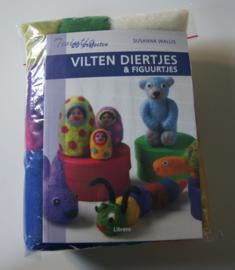 Startpakket met boek Vilten diertjes & figuurtjes