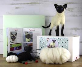 Naaldviltpakket Simeon de siamese kat (engelstalig) per pakket