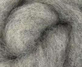 Corriedale heel licht grijs per 50 gram