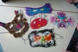 Kinderfeestje natvilten bloemen, maskers of iets anders leuks!