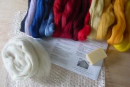 Startpakket wit, blauw, rood en geel tinten per pakket