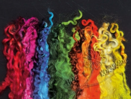 Wensleydale krullen 5 - 12 cm kleurenset per 20 gram