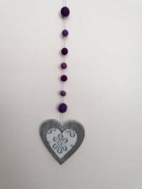 Hanger hart paars