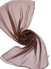 Chiffonzijde sjaal 230  x 55 cm chocolade bruin 24+