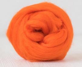 Merino lontwol 19 mic. per 50 gram Orange