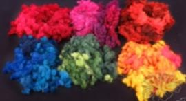 Woolnaps / wolkogeltjes in overlopende  6 kleuren 25 gram