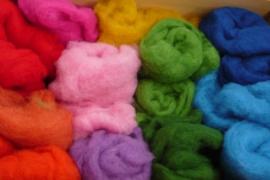 Kleurenset wol wisselend van kleur 50 gram
