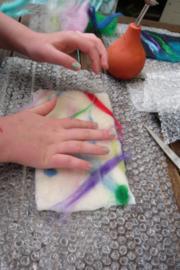 Kinderfeestje in atelier