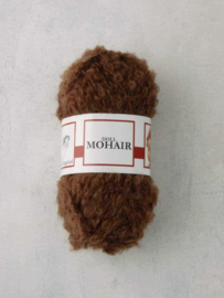 Poppenhaar mohair-boucle - per 10 gram lichtbruin