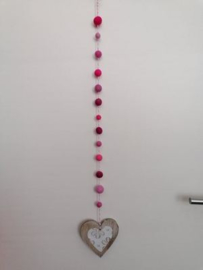 Hanger hart roze
