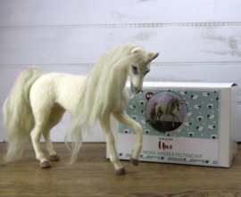 Naaldviltpakket Una de eenhoorn / paars (engelstalig) per pakket