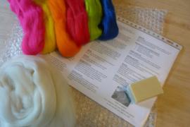 Startpakket wit en felle kleuren per pakket