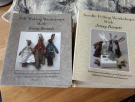 2 Boeken van Jenny Barnett (aanbieding) 2 boeken  Needle Felting & Felt Making Workshops with Jenny Barnett