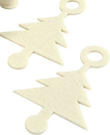Hanger / label   3 mm dik - viltlook off-white kerstboom