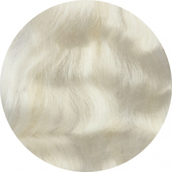 Tussahzijde per 10 gram wit
