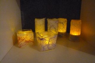 Winterlichtje vilten wol en versiering per pakket