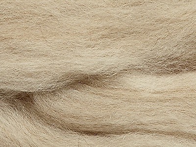 Polarfuchs beige gemeleerd 25 mic lontwol