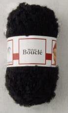 Poppenhaar mohair-boucle - per 10 gram zwart