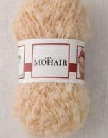 Poppenhaar mohair-boucle - per 10 gram goudblond