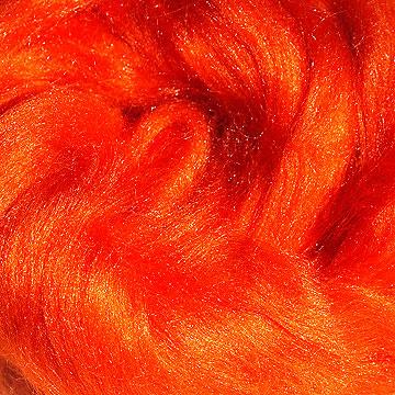 Tussahzijde per 10 gram oranje