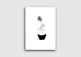 A4 poster vrouw met tattoo