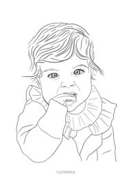 Lijntekening portret  zwart-wit , vanaf €35,-