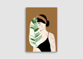 A5 kaart plant lady