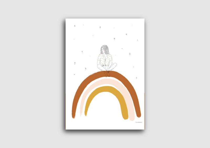 A4 poster regenboog