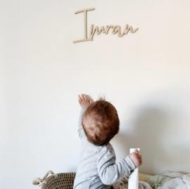 Houten naam - Imran