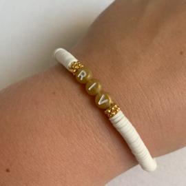 Armband katsuki met naam wit