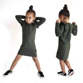 Ruffle dress donker groen
