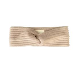 Haarband twist - Rib Taupe