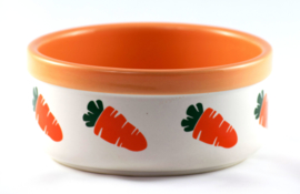 Food bowl with carrot design orange