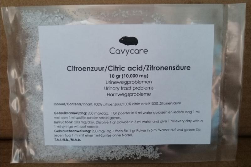 Citroenzuur (10 gram)