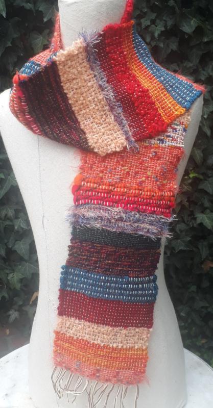 gekleurde sjaal