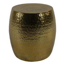 Bijzettafel / hocker goud ø 36x35,5cm