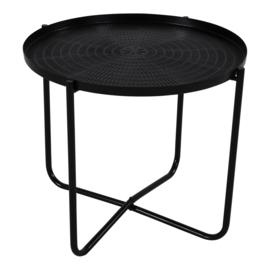 Bijzettafel zwart ø 40,5x35cm