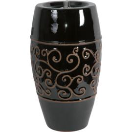 Olielamp Opium ceramic zwart 55cm